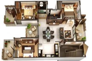 Portfolio for I will create 3d floor plan, exterior an