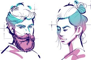 Portfolio for Colorful Portraits and Illustrations