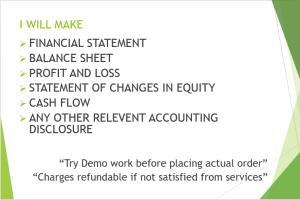 Portfolio for Financial Statement, Management Accounts
