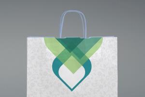 Portfolio for Tote bag, Modern gift Bag Design