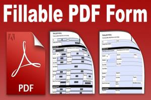 Portfolio for Fillable PDF Forms   Fillable Forms