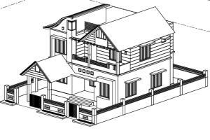 Portfolio for 2D Cad to 3D Architectural Model