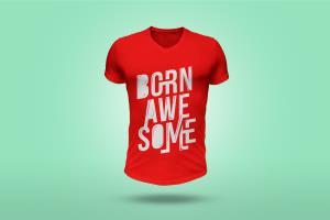 Portfolio for custom typography t shirt design