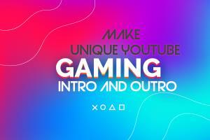 Portfolio for unique youtube gaming intro and outro