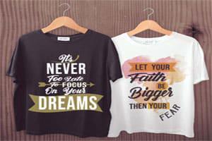 Portfolio for Design typographic,illustrative t-shirt