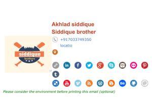 Portfolio for Hmtl clickable email signature, logo