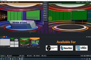 Portfolio for Virtual Set,vMix,OBS,Tricaster,Avid,ORAD