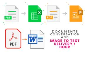 Portfolio for convert pdf to word, and Image to Text