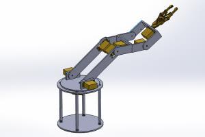 Portfolio for I create 3d model of Rebotic arm.
