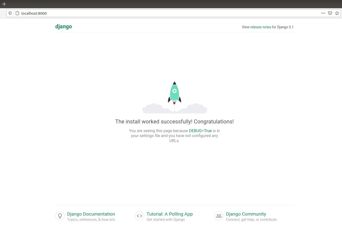 Portfolio for Django installation|Python webframework