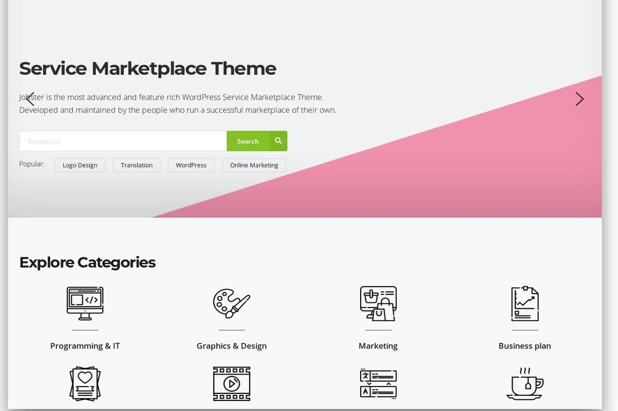 Portfolio for Wordpress web/mobile app developer