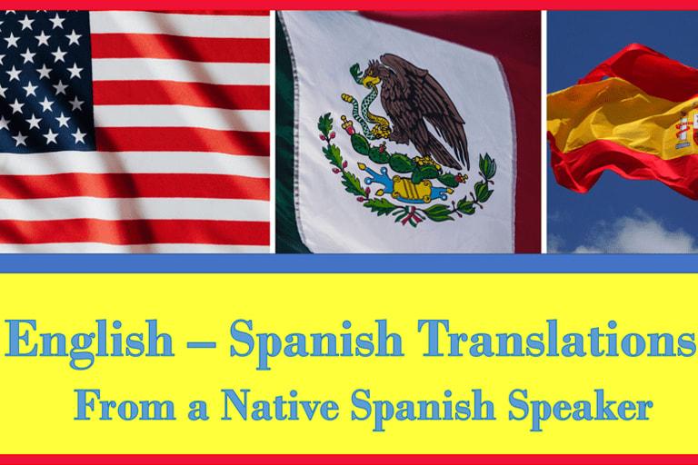 Portfolio for English - Spanish Translation