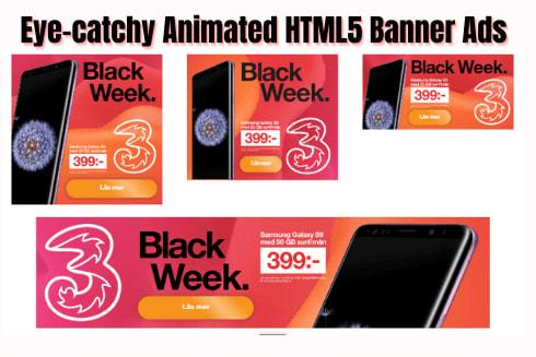 Portfolio for HTML5 Animated Web Banner