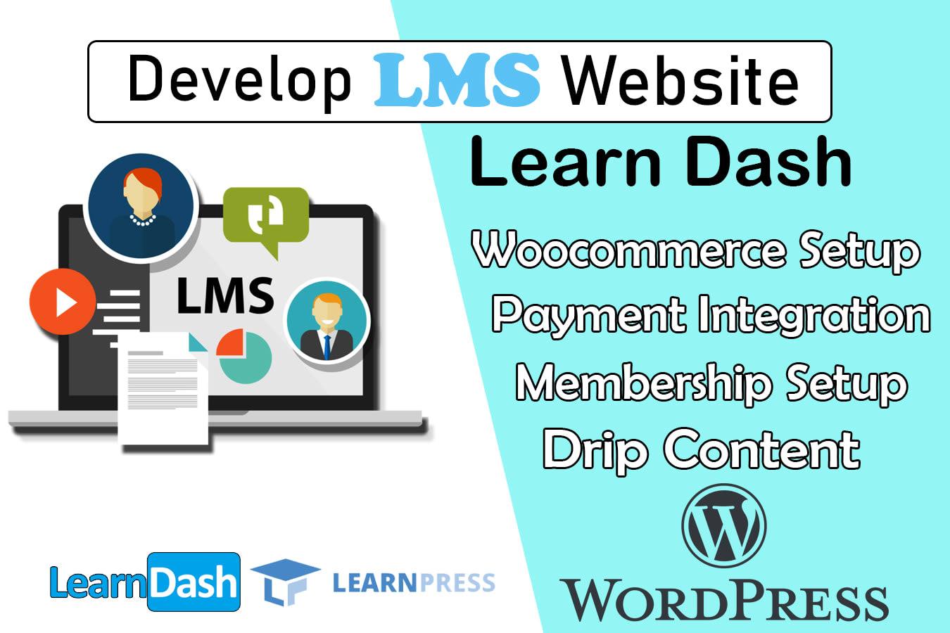 Portfolio for LMS WordPress membership Website
