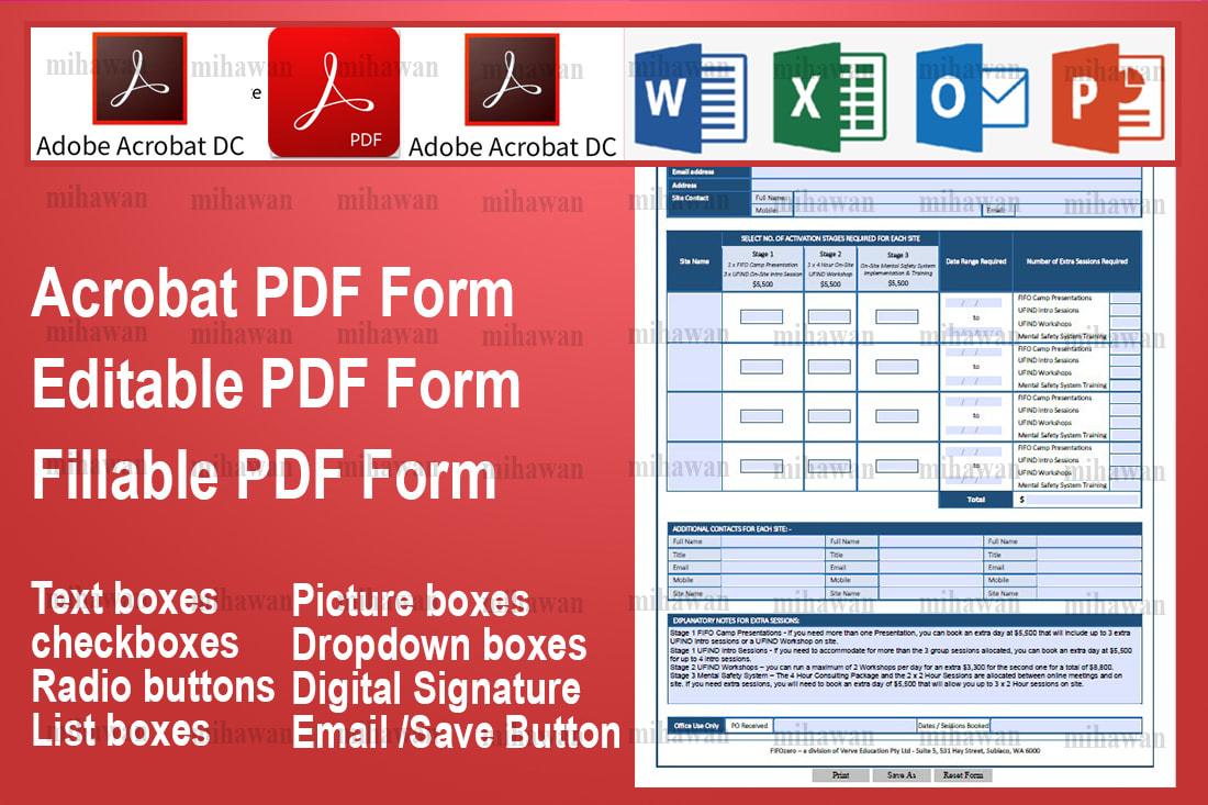Portfolio for Edit PDF Create Design Fillable PDF Form