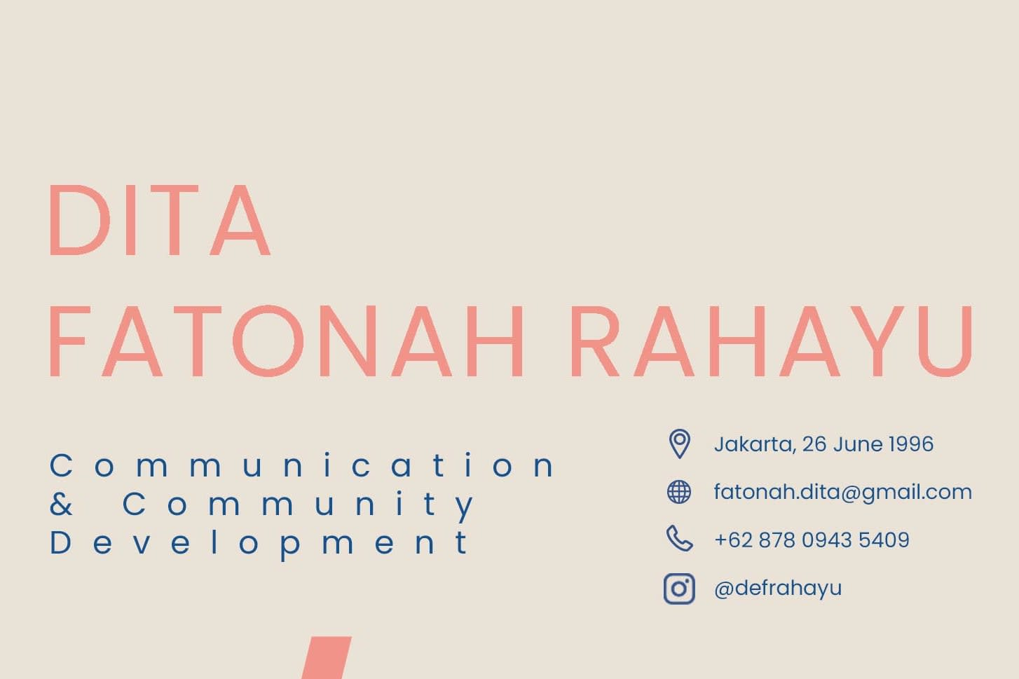 Portfolio for Communication and Community Development