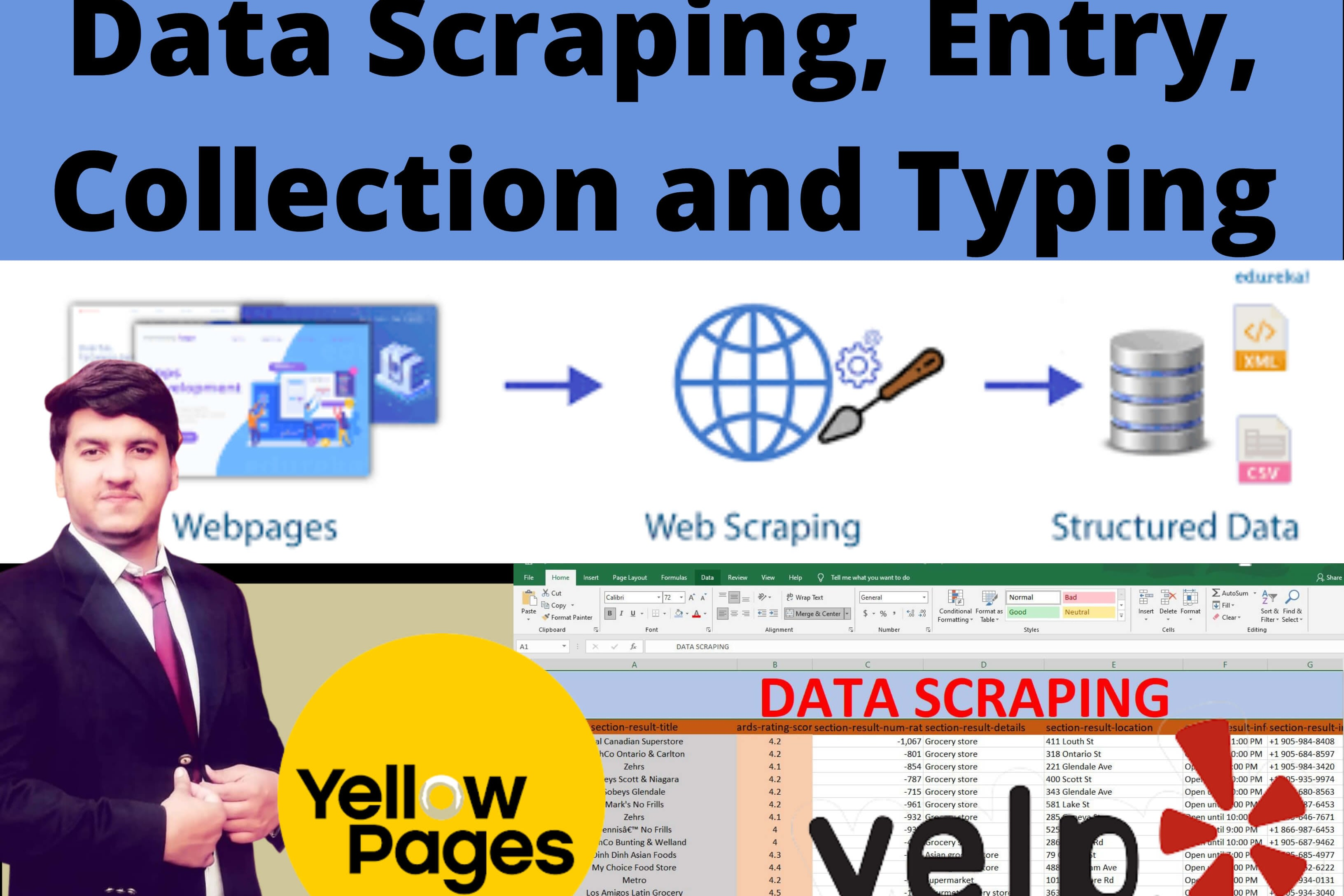 Portfolio for Data Scraping, collection, web scraping