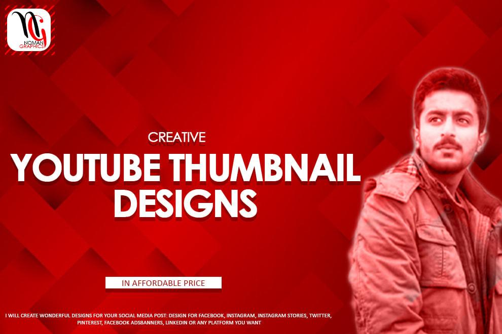 Portfolio for I will design YouTube thumbnails
