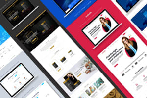 Portfolio for Web design, Home Page, Mockups, Layout