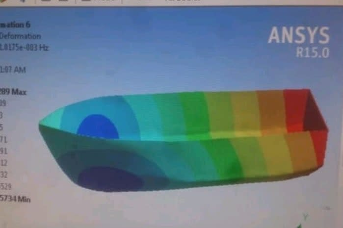 Portfolio for 3D Boat Analysis ANSYS WORKBENCH