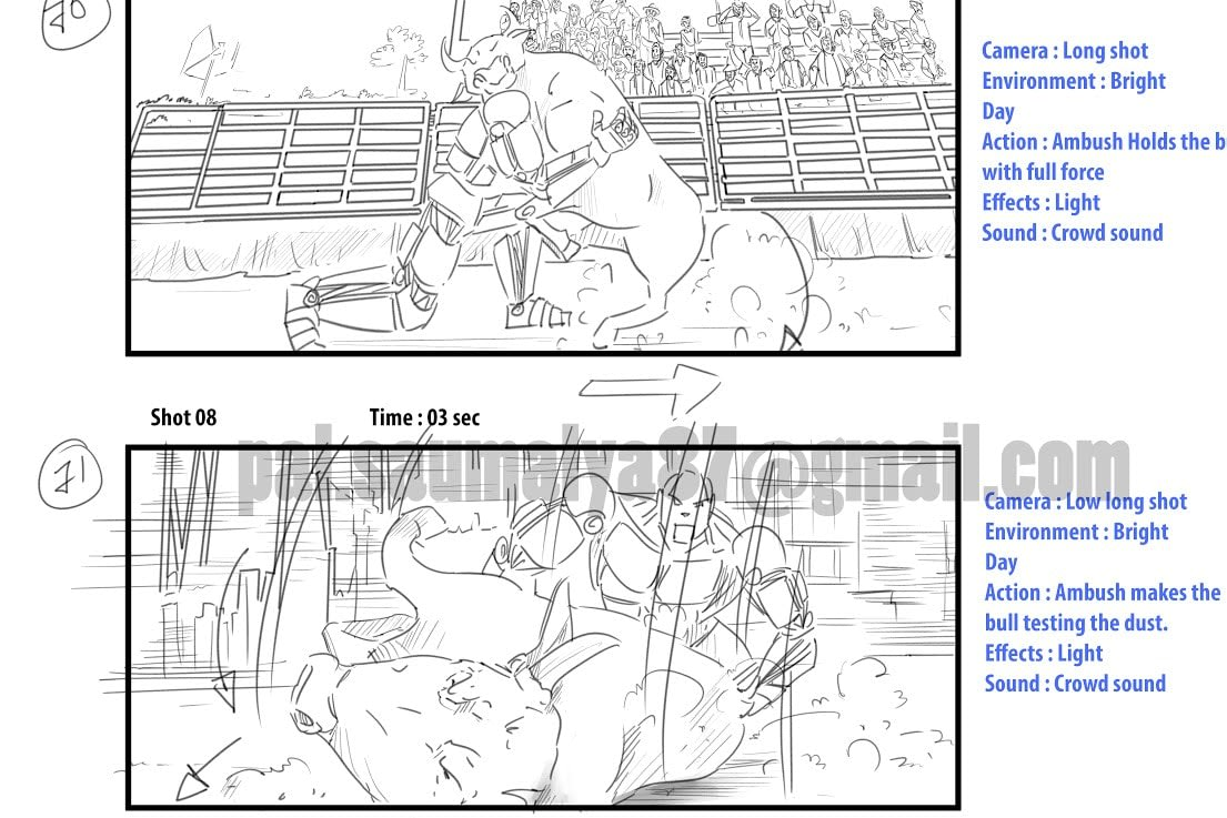 Portfolio for storyboarding, Illustration & concept