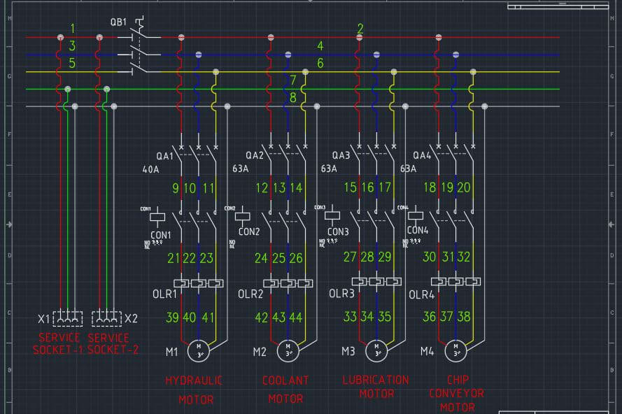 Portfolio for AutoCAD Electrical Design and Drawing