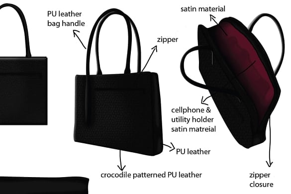 Portfolio for Handbag and Camera bag designer