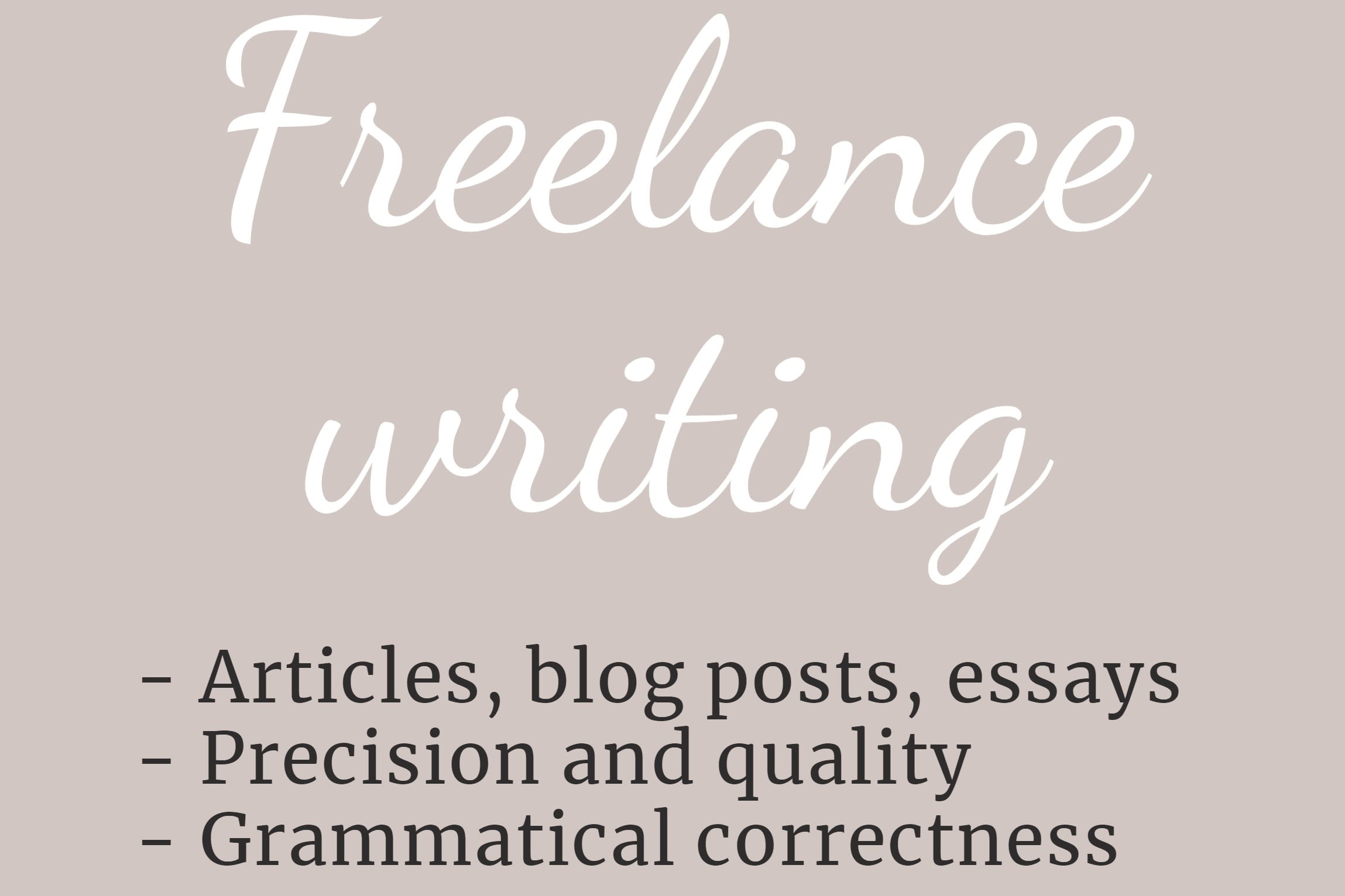 Portfolio for Freelance content writing & proofreading