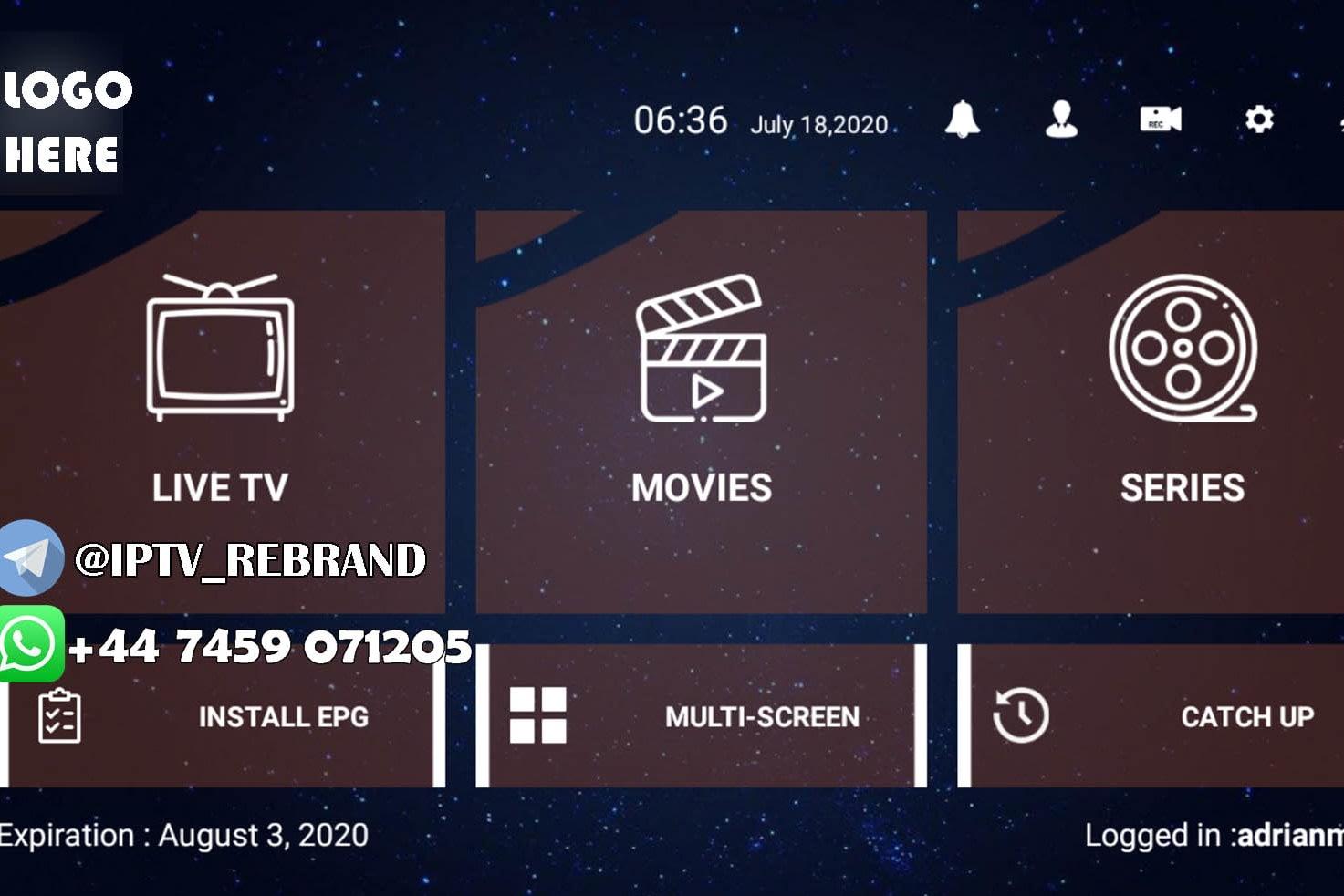 Portfolio for IPTV Rebrand All Applications