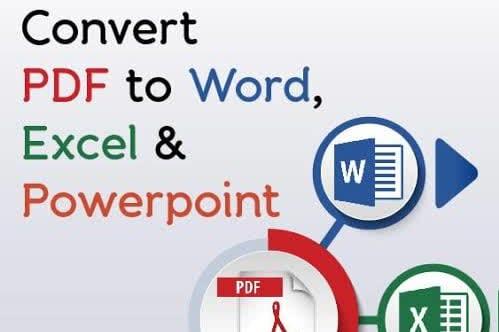 Portfolio for PDf conversion, Pdf Editing,PDF FIllable