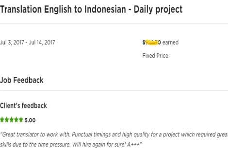 Portfolio for English-Indonesian-Javanese Translation