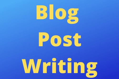 Portfolio for Blog Post Writing