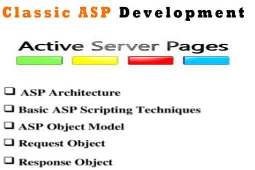 Portfolio for I will help you classic asp work