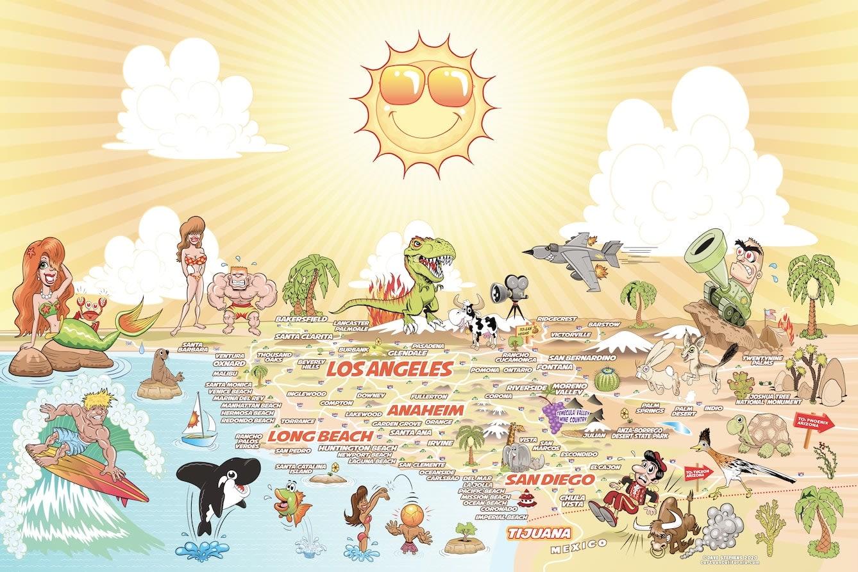 Portfolio for Cartoon Maps