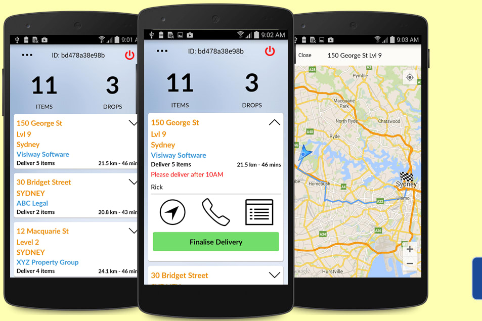 Portfolio for Delivery app for iOS and Android
