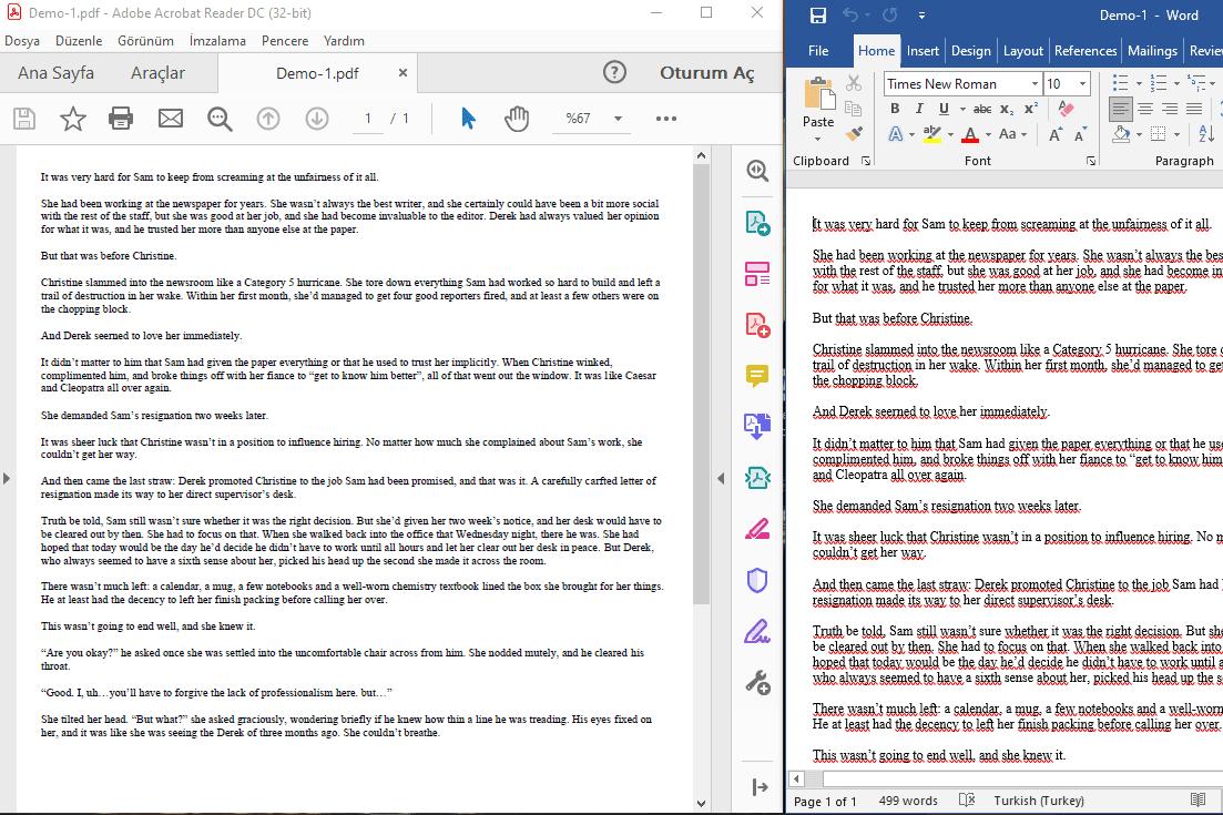 Portfolio for convert to pdf,word,excel