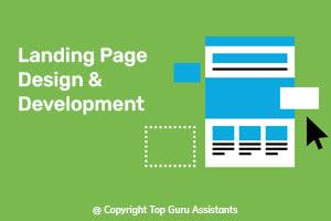 Portfolio for Landing page design & Development