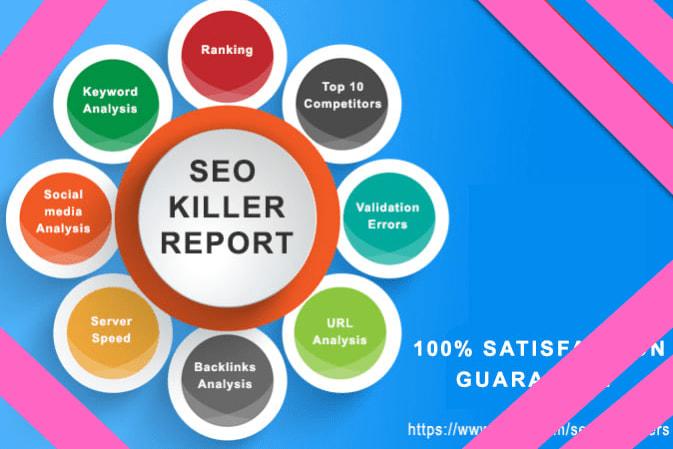 Portfolio for seo analysis report, keyword research