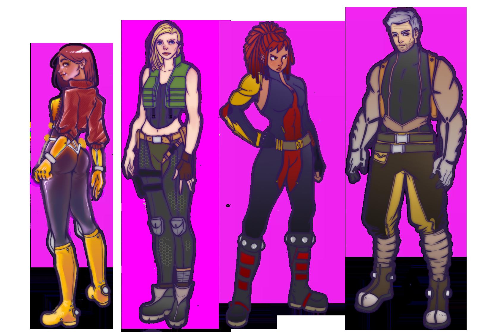 Portfolio for 2d Character Design
