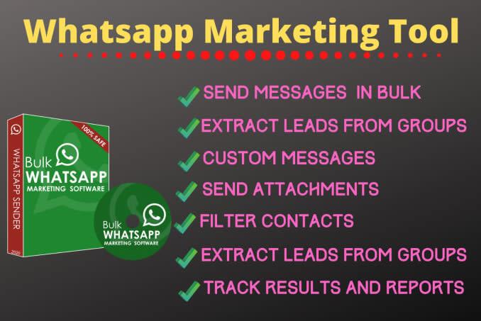 Portfolio for whatsapp marketing tool and bulk Sender