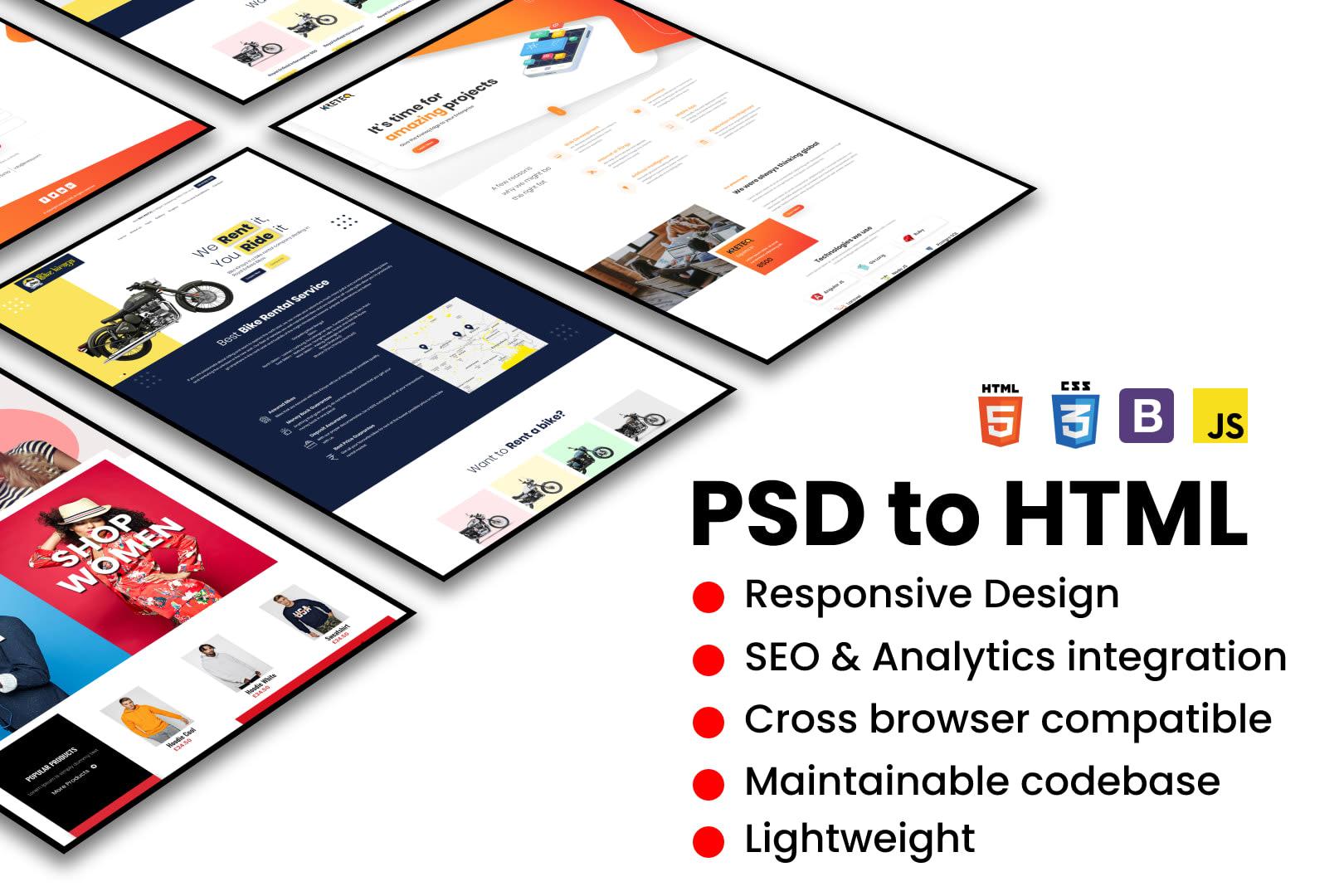 Portfolio for PSD to Responsive HTML5 Bootstrap Design