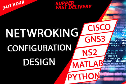Portfolio for networking in packet tracer, gns3, NS2,