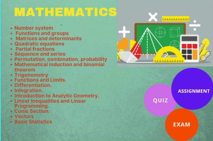 Portfolio for Lecturer Mathematics, Solved Assignments
