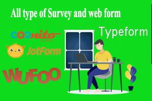 Portfolio for Online Survey and Web forms