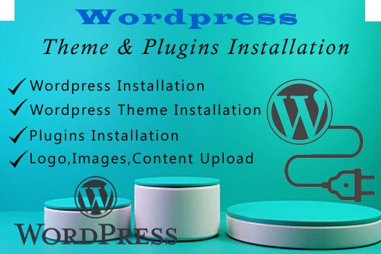 Portfolio for Wordpress Theme & Plugins Installation