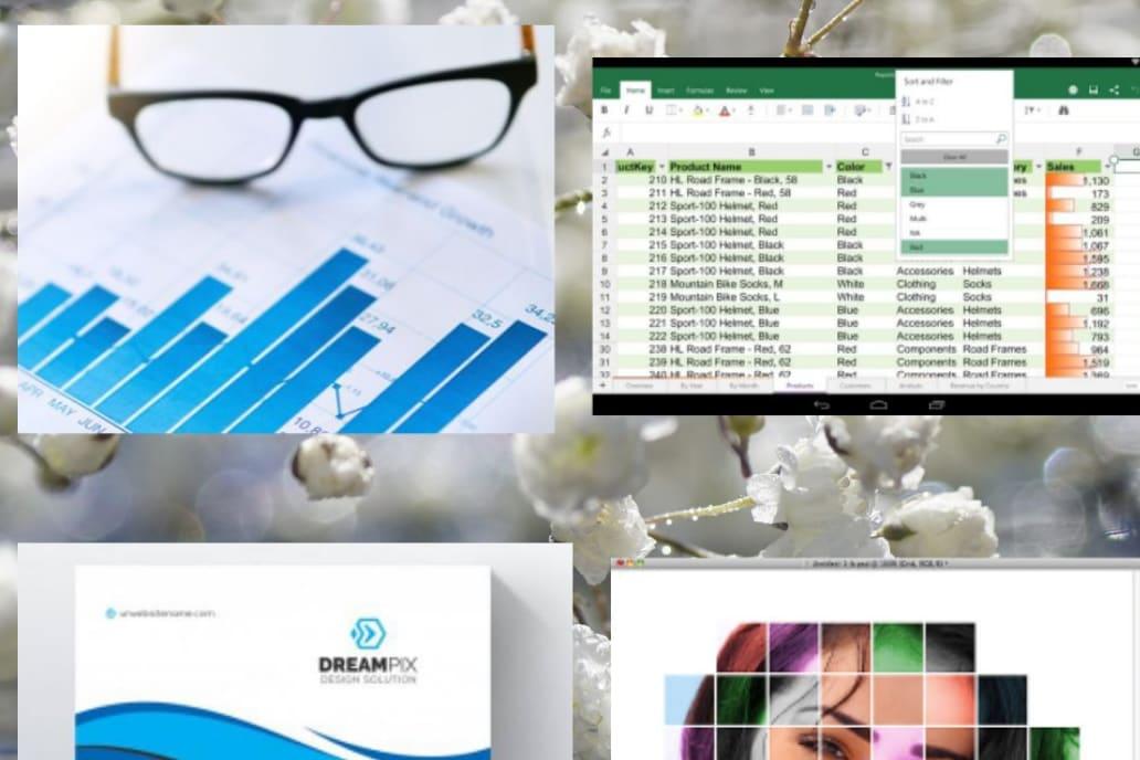Portfolio for Photoshop, ms word, ms word to pdf, edit