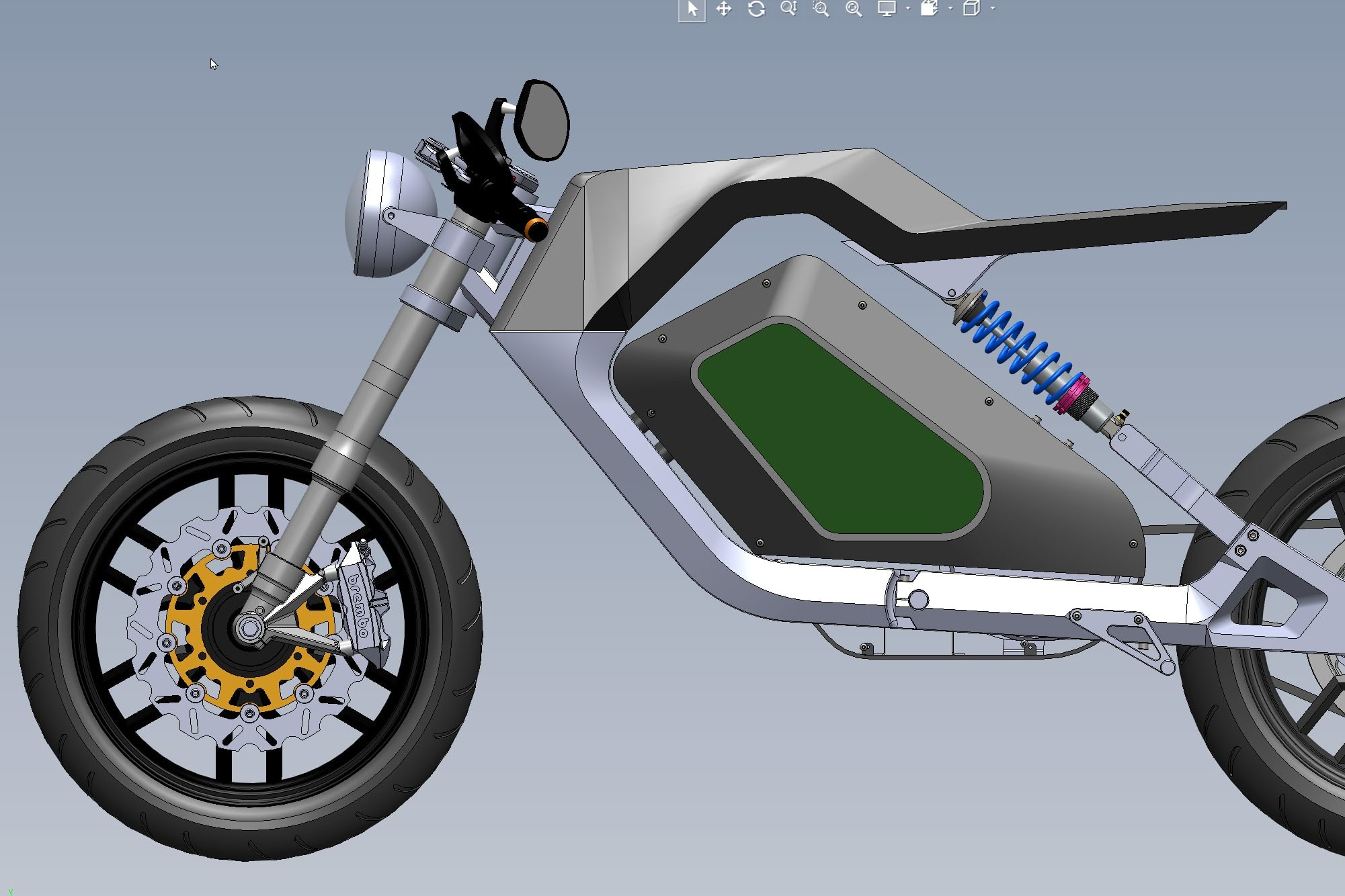 Portfolio for Cafe Style electric motorcycle