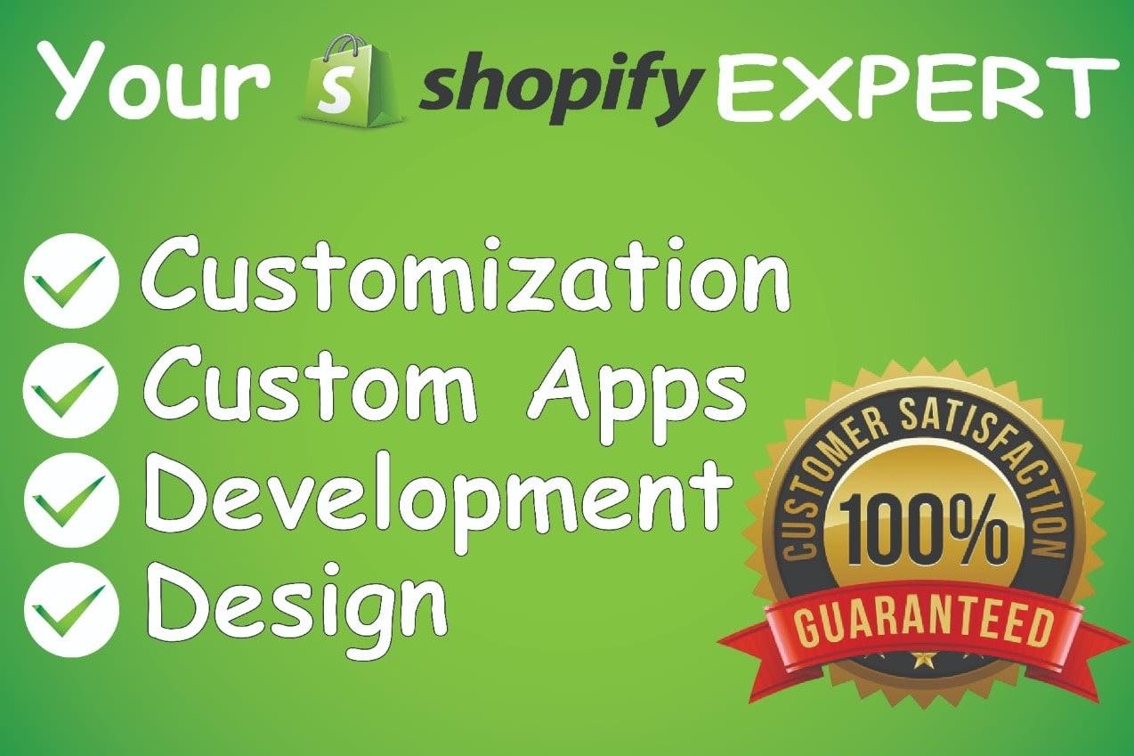 Portfolio for Shopify website and store developer