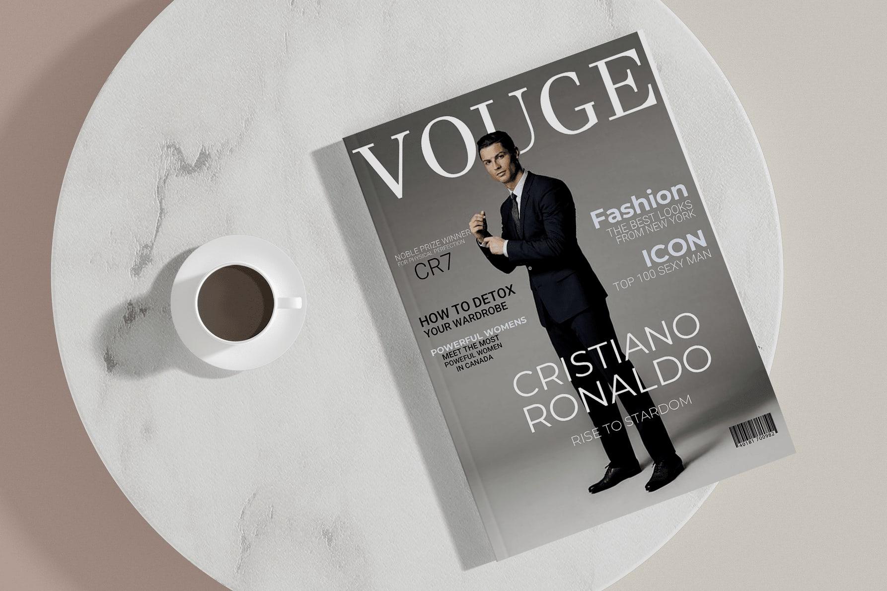 Portfolio for Quality magazine cover design.