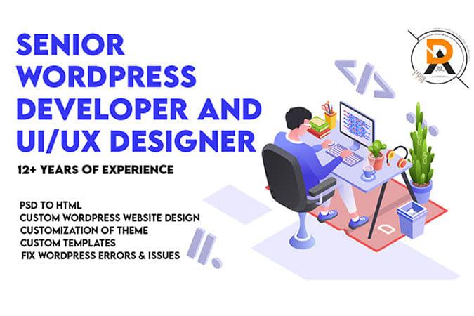Portfolio for UI/UX Designing & WordPress Development